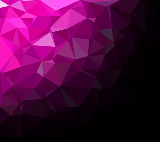 Paarse veelhoekige mozaïek achtergrond, creatief ontwerpsjablonen
