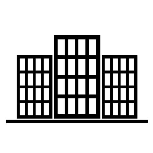 Sign of building icon