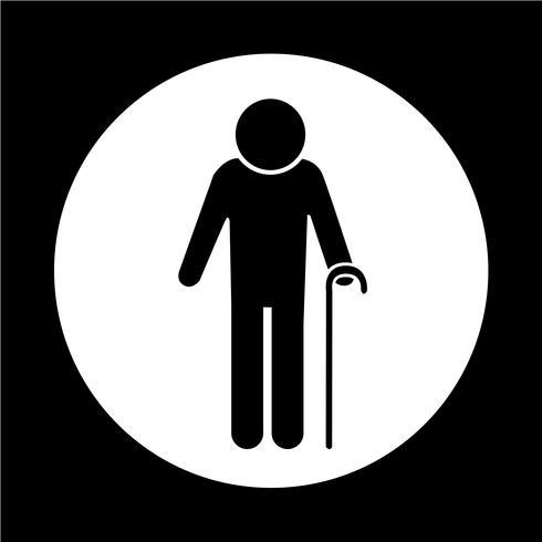 Icono de personas mayores vector