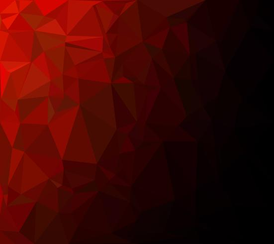 Red Polygonal Mosaic Background, Creative Design Templates vector