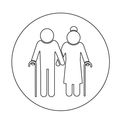 Icono de personas mayores
