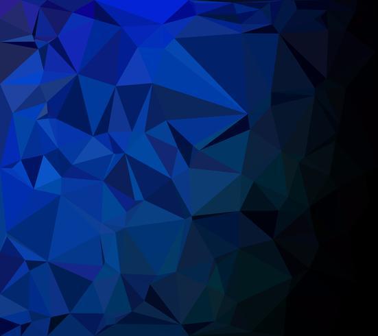 Blå polygonalmosaik bakgrund, kreativa designmallar vektor