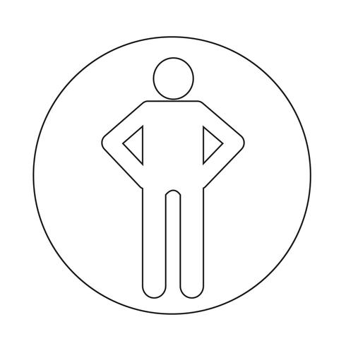 Menselijke actie pictogram