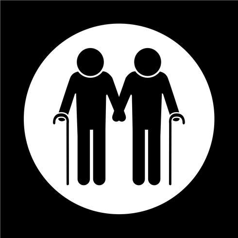 icona di persone anziane