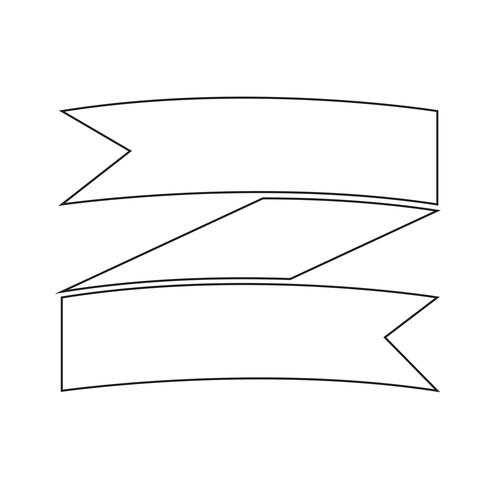 Signe de l'icône du ruban