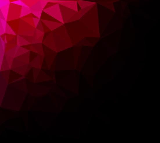 Rode veelhoekige mozaïek achtergrond, creatief ontwerpsjablonen