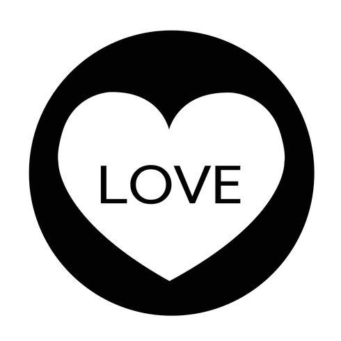 tecken på hjärtatikonen