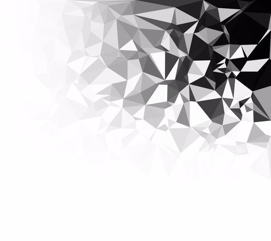 Svart polygonalmosaik bakgrund, kreativa designmallar vektor