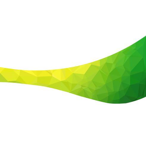 Groene veelhoekige mozaïek achtergrond, creatief ontwerpsjablonen