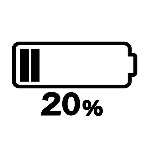 Signe de l'icône de la batterie