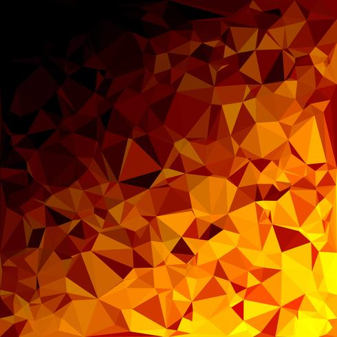 Yellow Polygonal Mosaic Background, Creative Design Templates vector