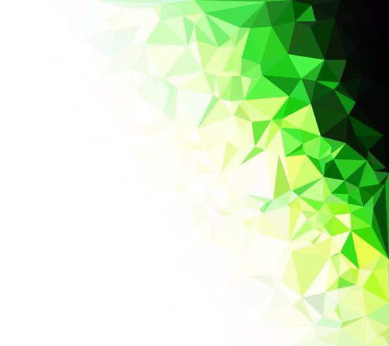 Green Polygonal Mosaic Background, Creative Design Templates vector