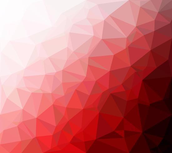 Sfondo rosso mosaico poligonale, modelli di design creativo vettore