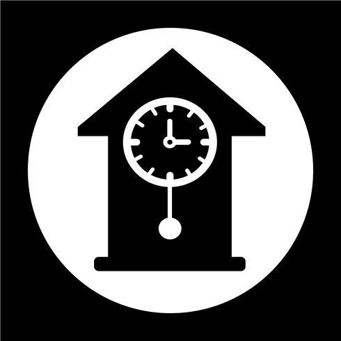 Icono de signo de tiempo vector