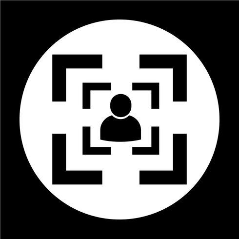 Segno dell'icona di persone