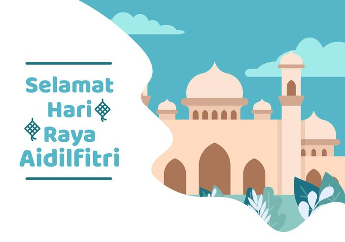 Hari Raya Mosque vector