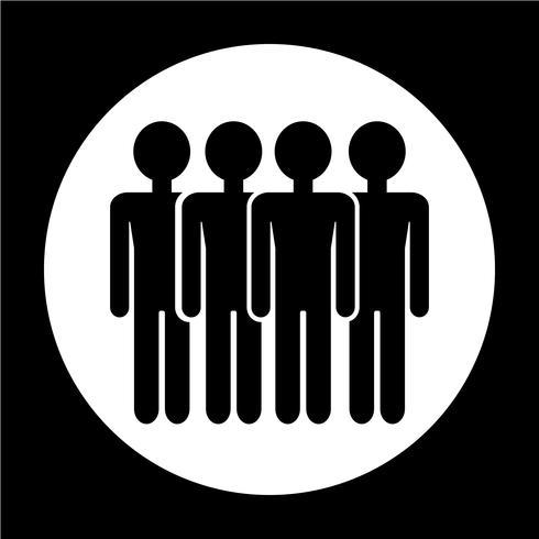 Teken van mensen pictogram