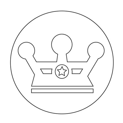 Sign of Crown icon vector