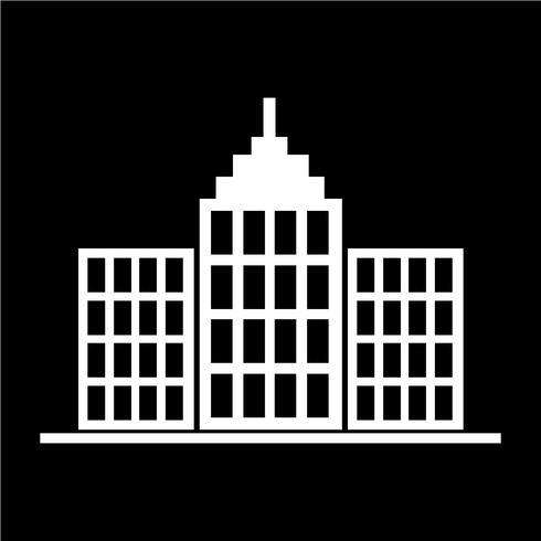 Icono de signo de edificio