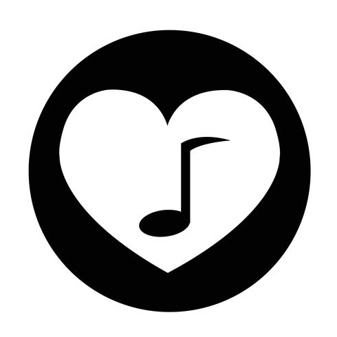 Icône de signe de coeur