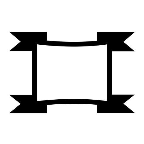 Sinal, de, fita, ícone