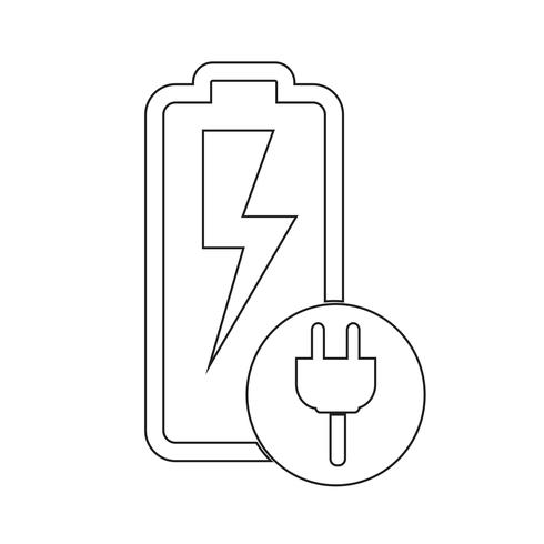 Icono de signo de batería