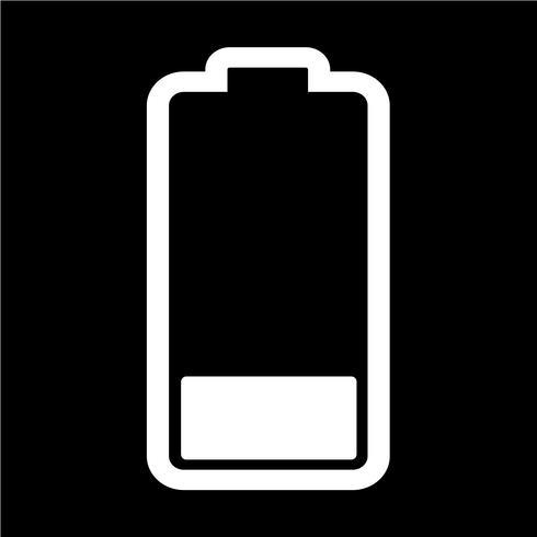 Tecken på batteriikonen