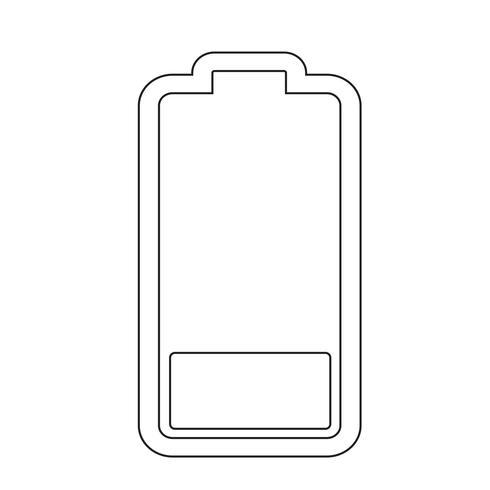 Sinal, de, bateria, ícone