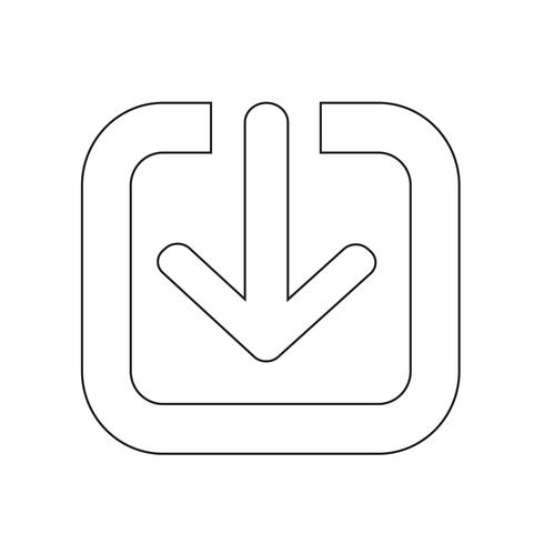 Sign of download icon