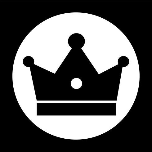 Sinal, de, coroa, ícone