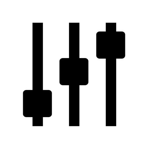 Sign of control icon