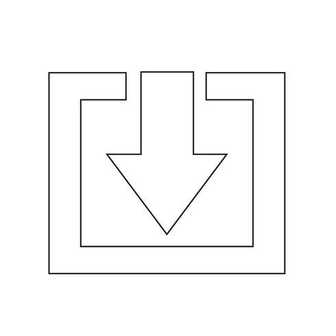 Signe de l'icône de téléchargement