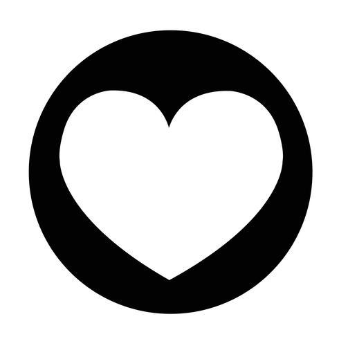 Sinal de ícone de coração
