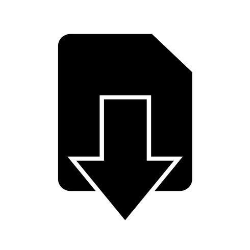 Teken van downloadpictogram