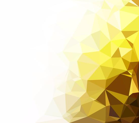 Yellow Polygonal Mosaic Background, Creative Design Templates vector