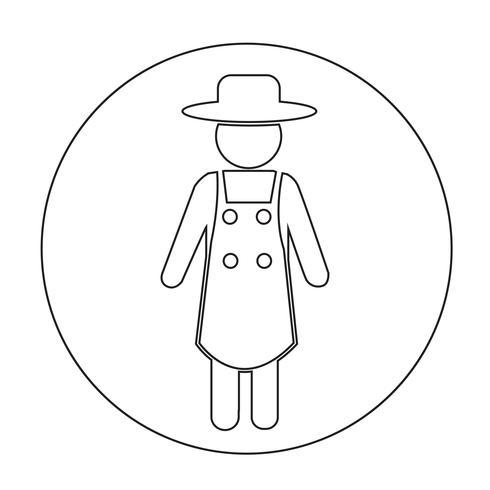 Icono de signo de granjero