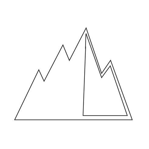 Signo de icono de montaña
