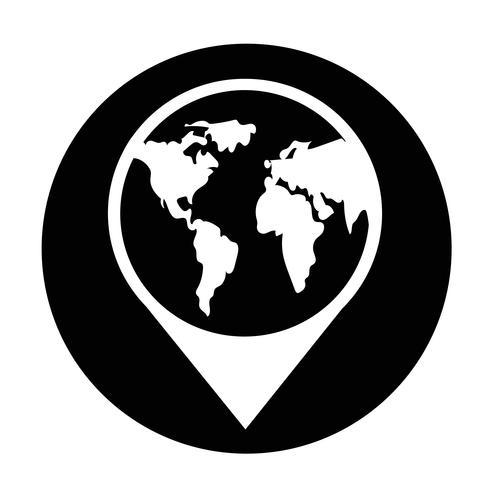 Icône de signe du globe