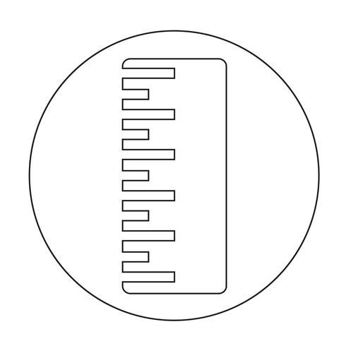 Sinal de ícone de régua