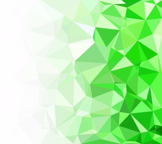 Fundo verde mosaico poligonal, modelos de Design criativo