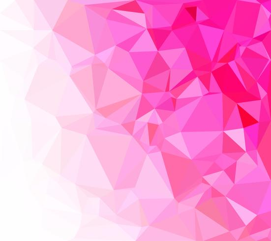 Pink Polygonal Mosaic Background, Creative Design Templates