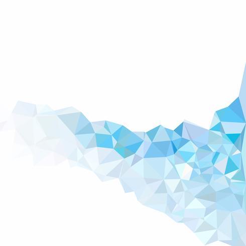 Sfondo blu mosaico poligonale, modelli di design creativo