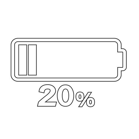 Sign of battery icon vector
