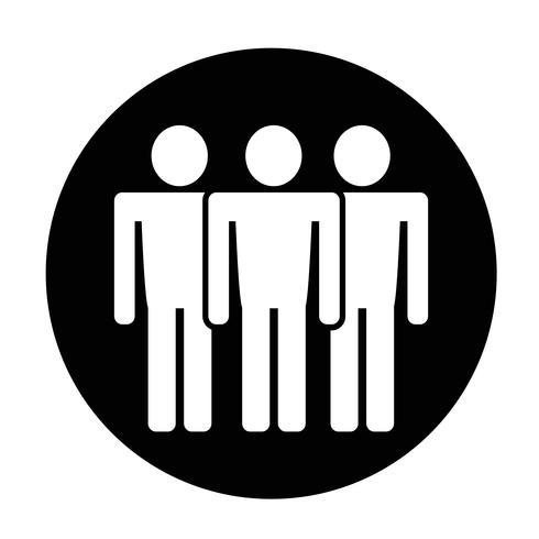Icono de signo de personas