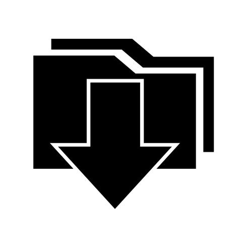 Icono de señal de descarga vector