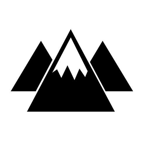 Sinal de ícone de montanha