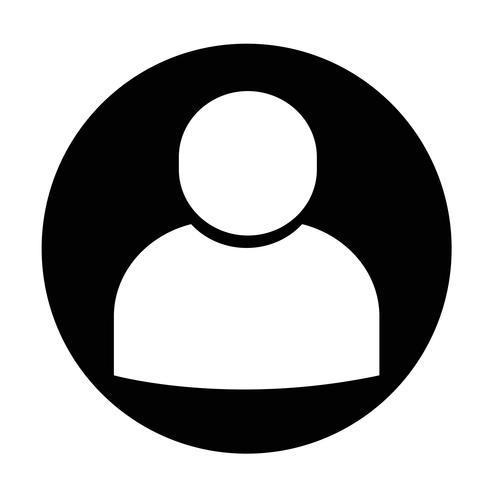 Signe de l'icône de l'utilisateur vecteur