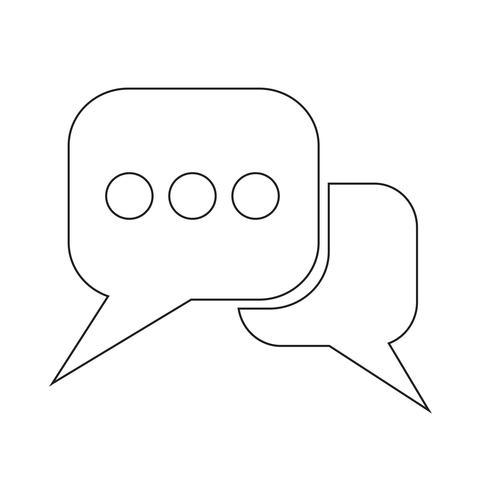 Ícone de bolha do discurso