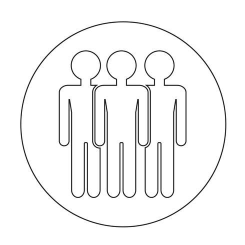 Zeichen der Leute-Ikone