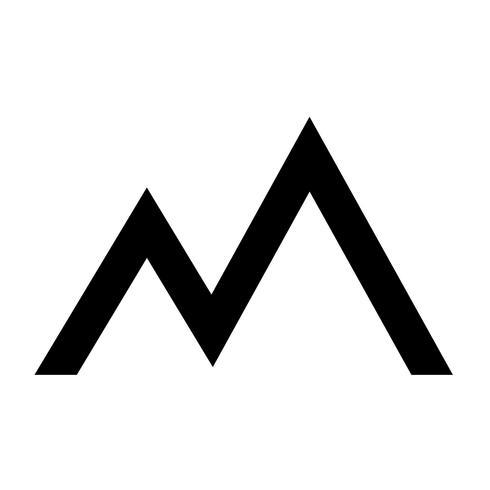 Signe de la montagne icon vecteur